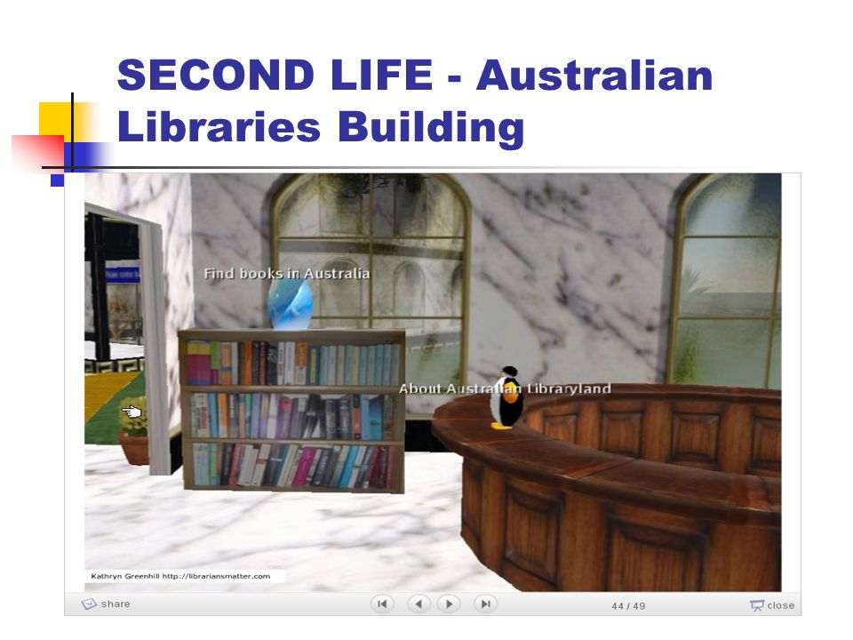 SECOND LIFE - Australian Libraries Building