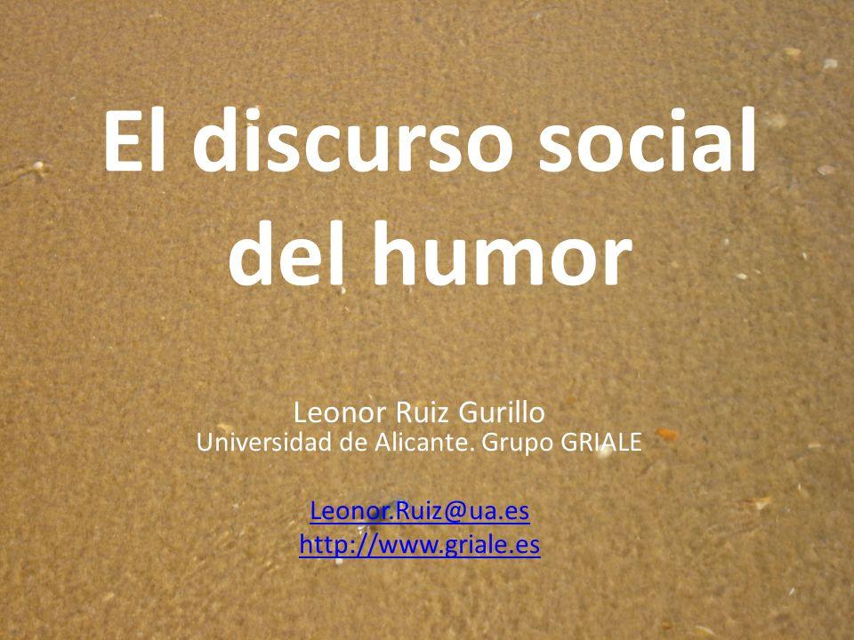 El humor en interacción Muestras reales de conversación Igualdad social: cohesión y solidaridad Desigualdad de género: aspecto diferenciador CORROBORACORROBORA