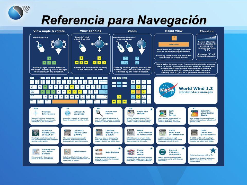 Datos incluidos Imágenes Blue Marble: Imágenes de algunos satélites de 1km pixel de resolución.