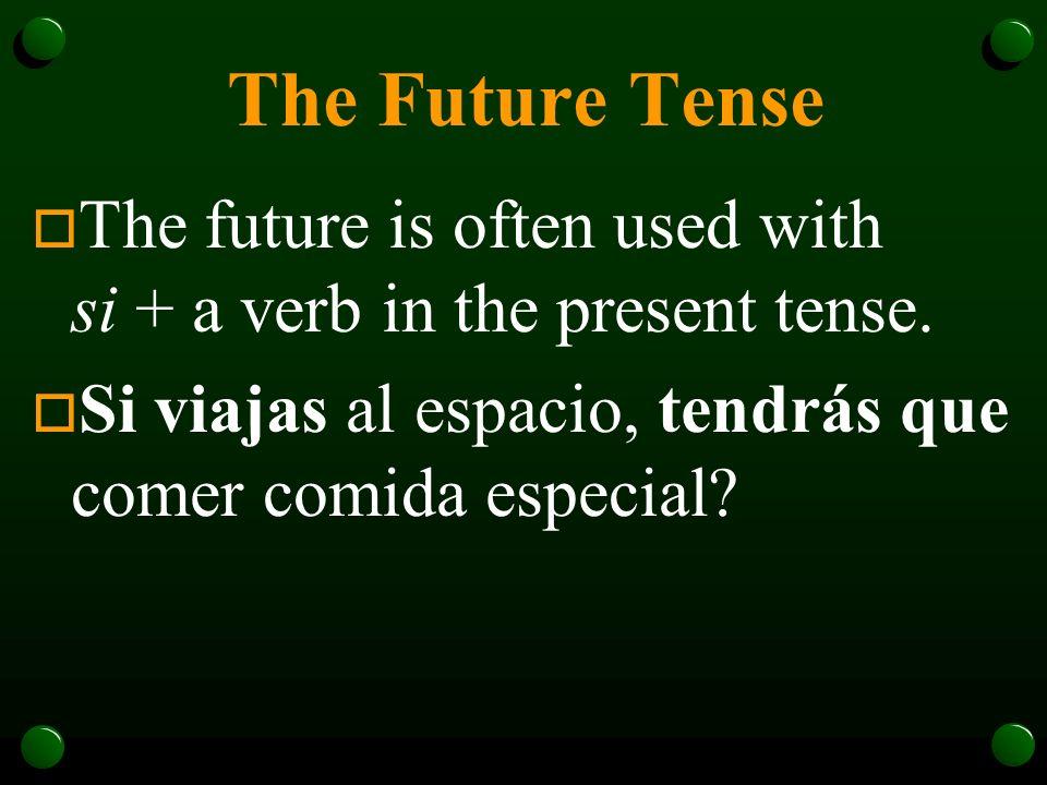 The Future Tense o Habrá muchas oportunidades para usar el español en mi carrera.
