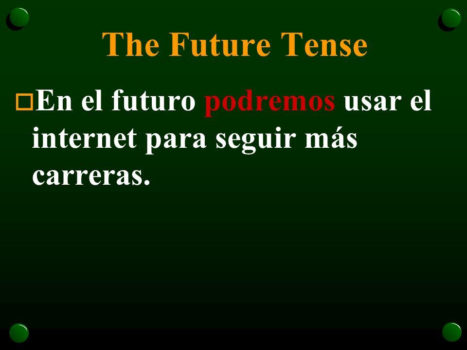 The Future Tense o Algún día tendré un trabajo con un salario muy bueno.