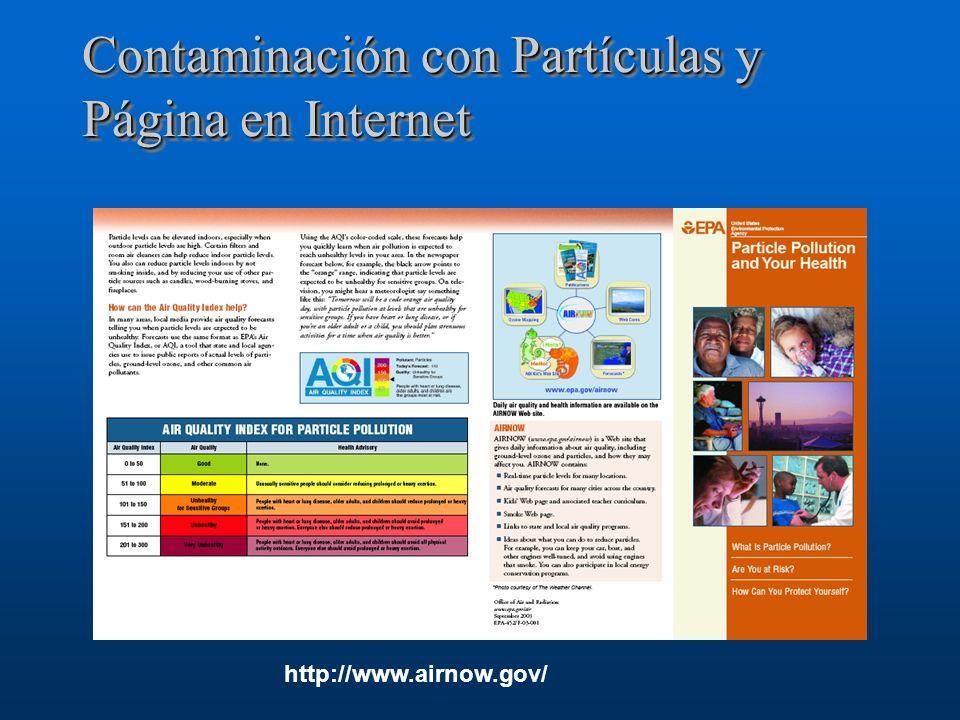 Contaminación con Partículas y Página en Internet http://www.airnow.gov/