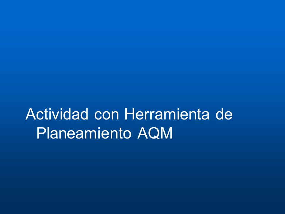 Actividad con Herramienta de Planeamiento AQM