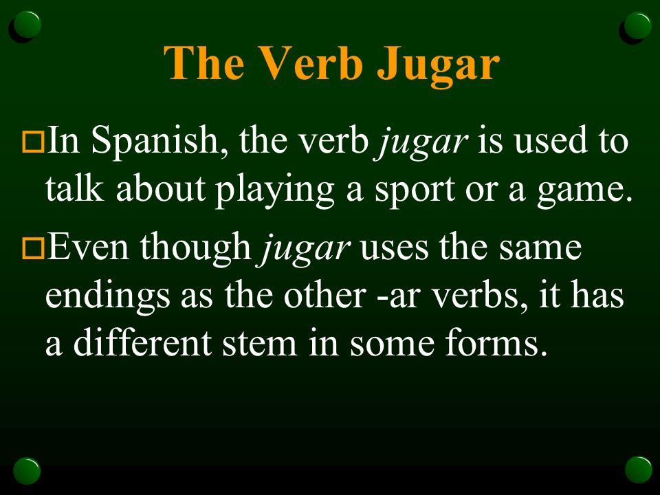 The Verb Jugar P. 208 Realidades 1