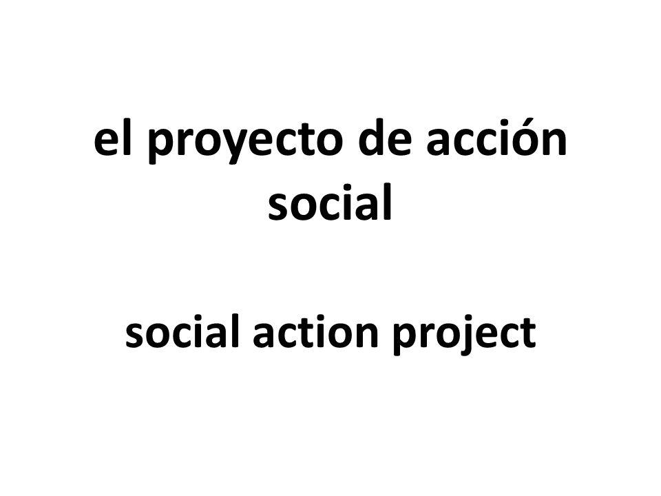 el proyecto de acción social social action project