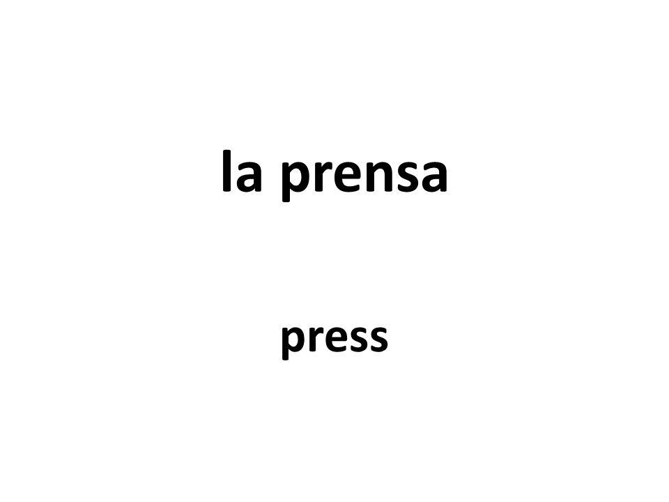 la prensa press