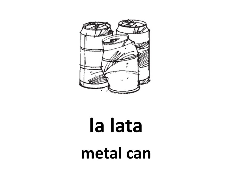 la lata metal can