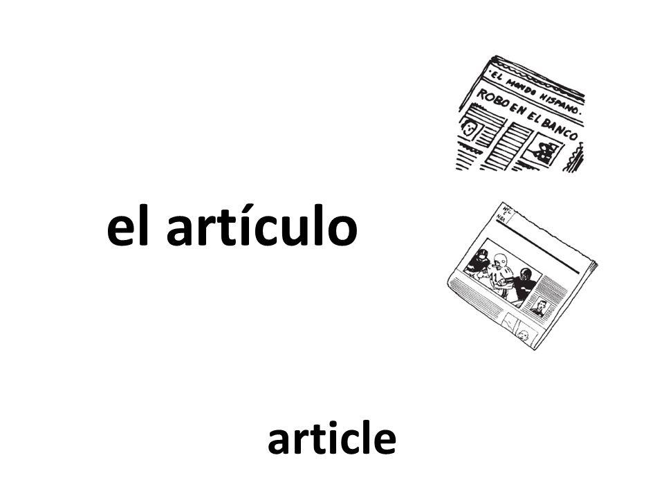 el artículo article