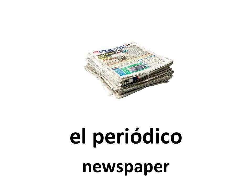 el periódico newspaper