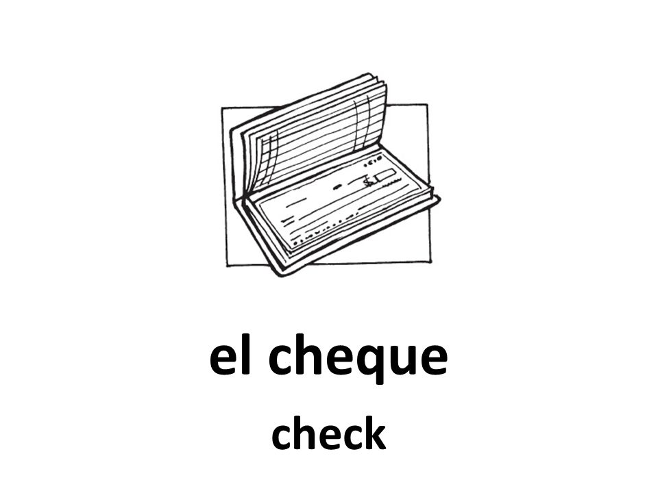 el cheque check
