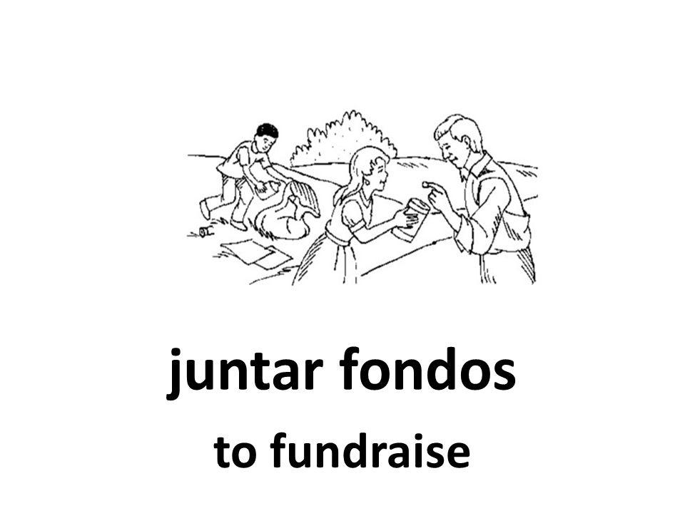 juntar fondos to fundraise