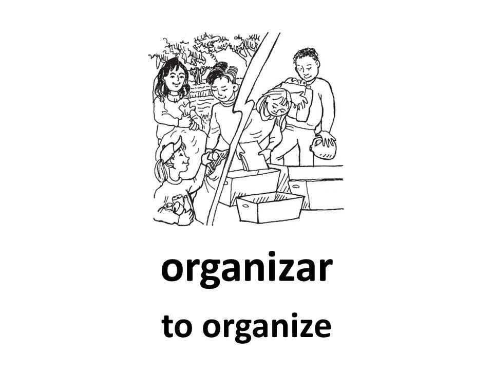 organizar to organize