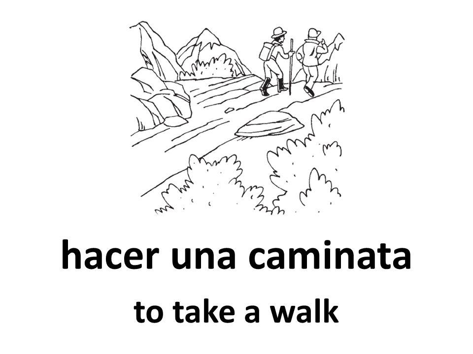 hacer una caminata to take a walk