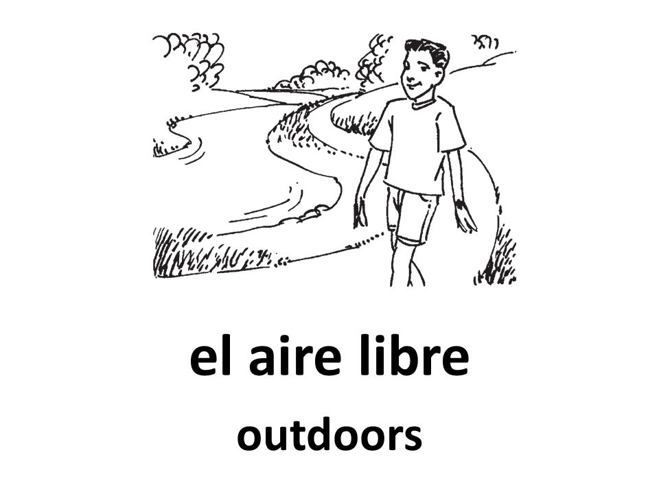el aire libre outdoors
