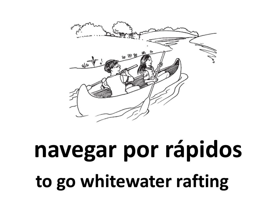 navegar por rápidos to go whitewater rafting