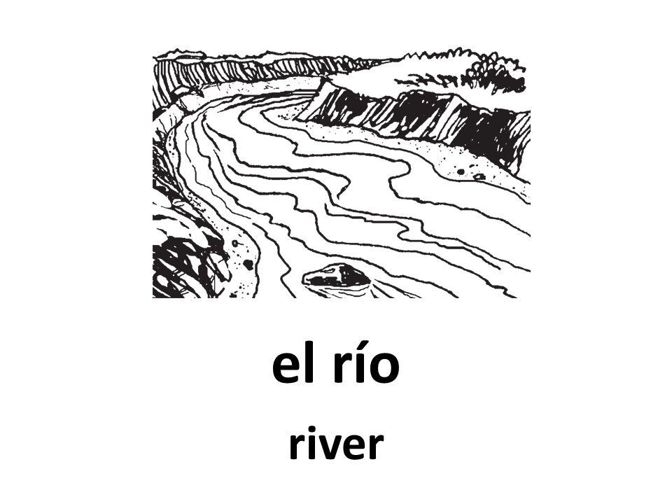 el río river