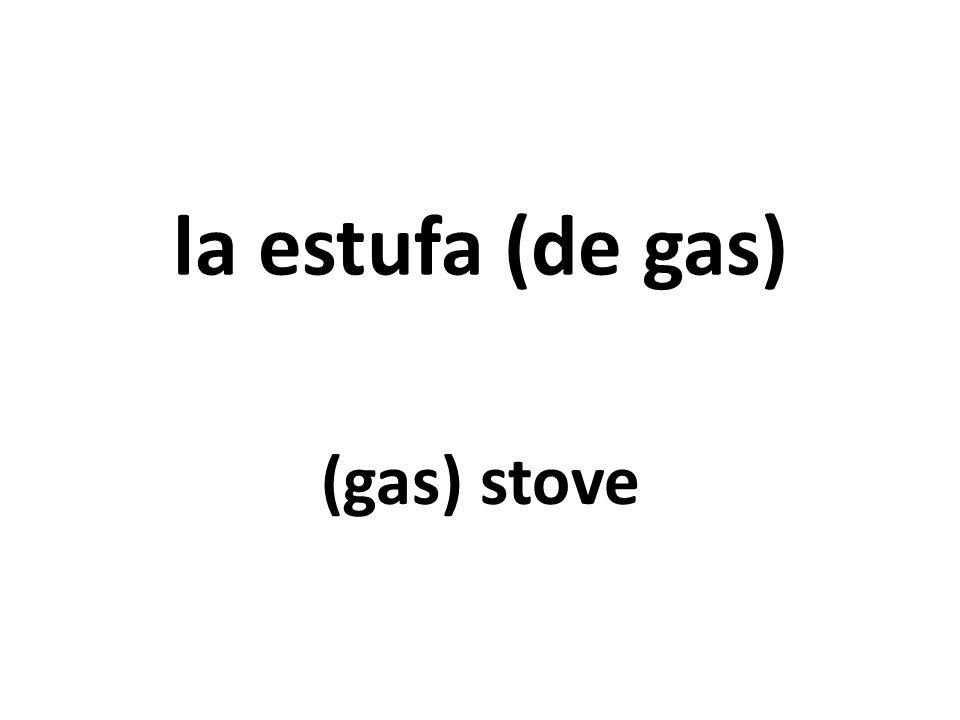 la estufa (de gas) (gas) stove