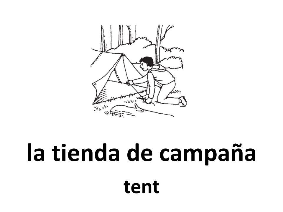 la tienda de campaña tent
