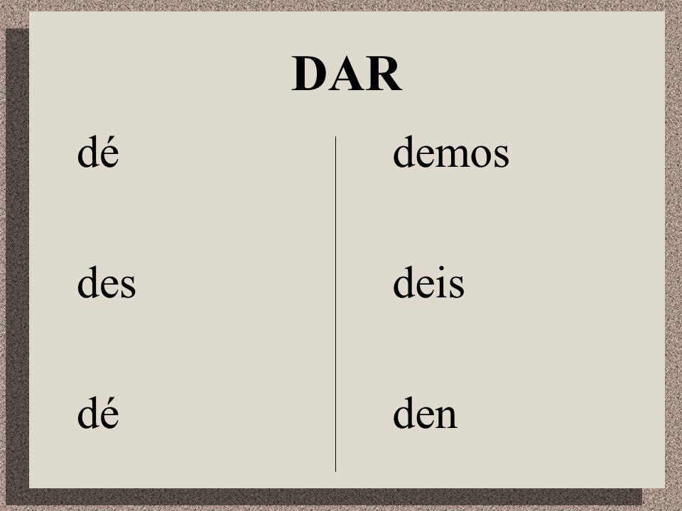 Irregular Verbs in the Subjunctive DDar IIr SSer HHaber EEstar SSaber