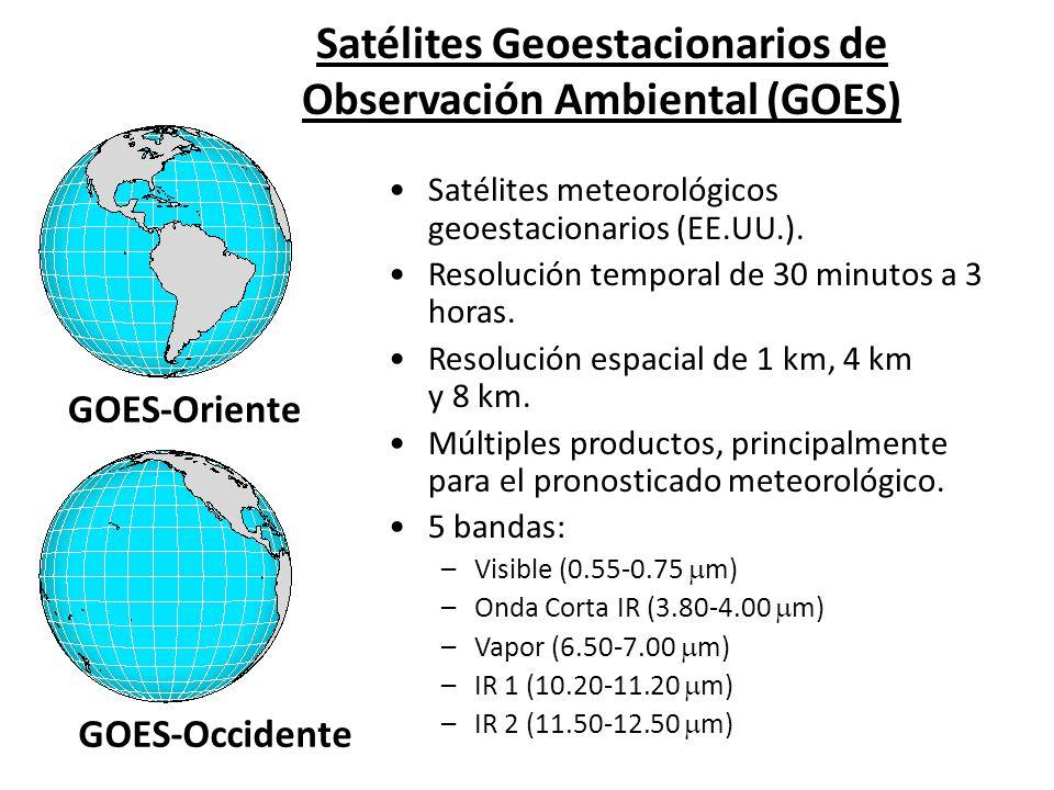 Satélites Geoestacionarios de Observación Ambiental (GOES) GOES-Oriente GOES-Occidente Satélites meteorológicos geoestacionarios (EE.UU.). Resolución