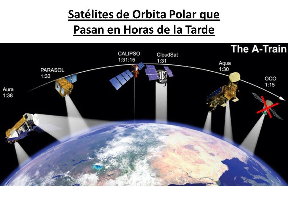 Satélites de Orbita Polar que Pasan en Horas de la Tarde