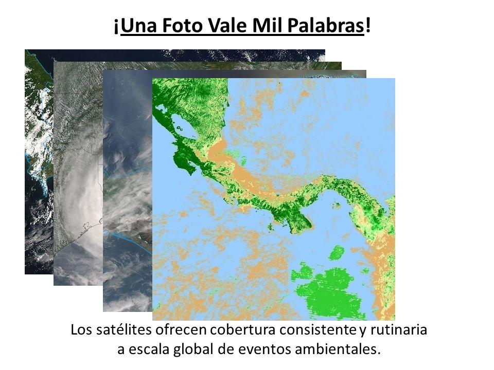 ¡Una Foto Vale Mil Palabras! Los satélites ofrecen cobertura consistente y rutinaria a escala global de eventos ambientales.