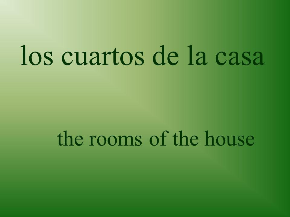 los cuartos de la casa the rooms of the house