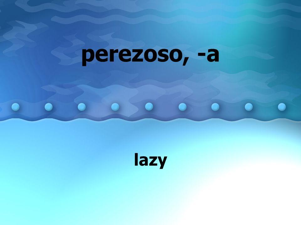 perezoso, -a lazy