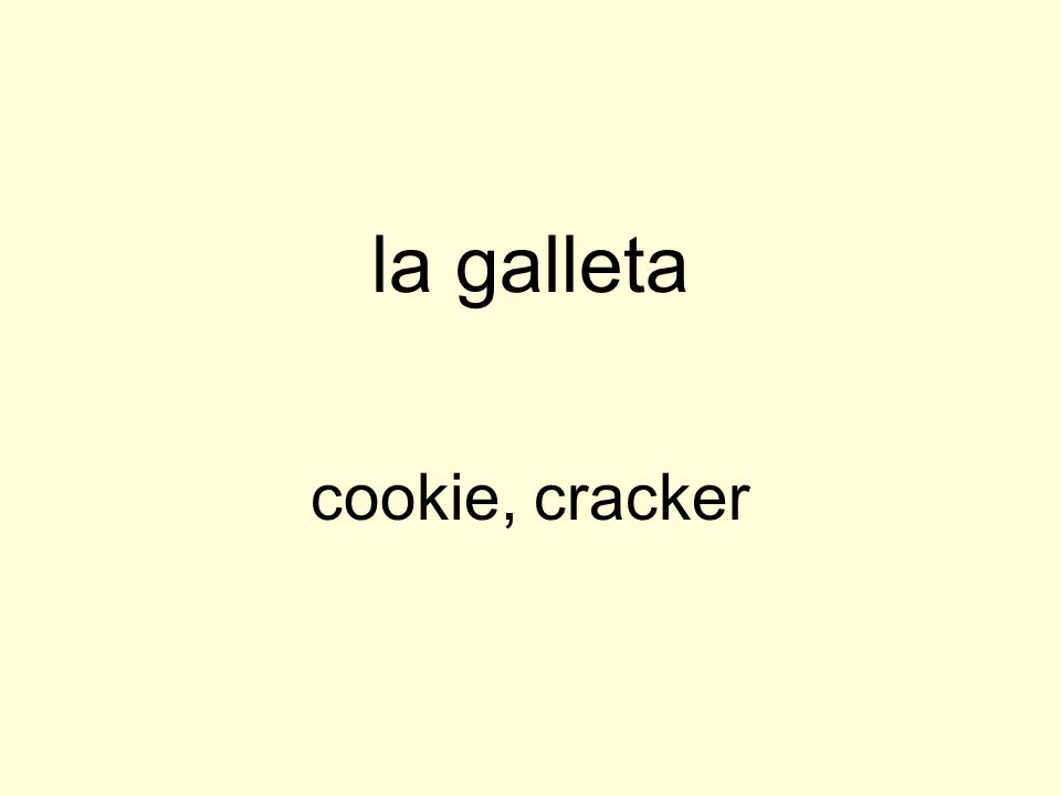la galleta cookie, cracker