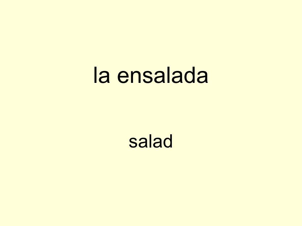 la ensalada salad