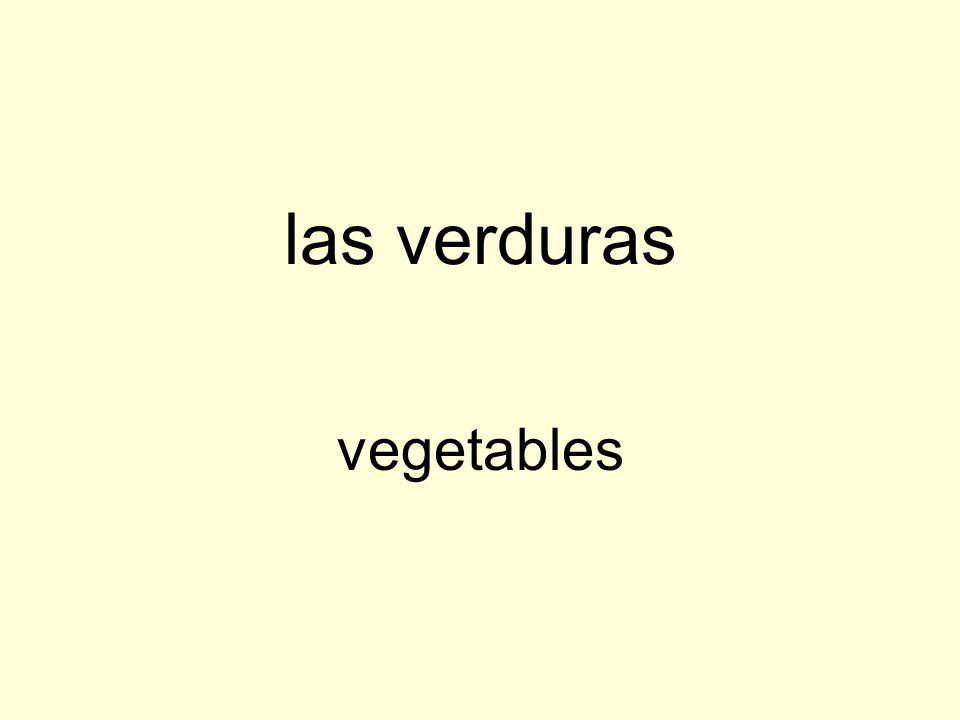 las verduras vegetables