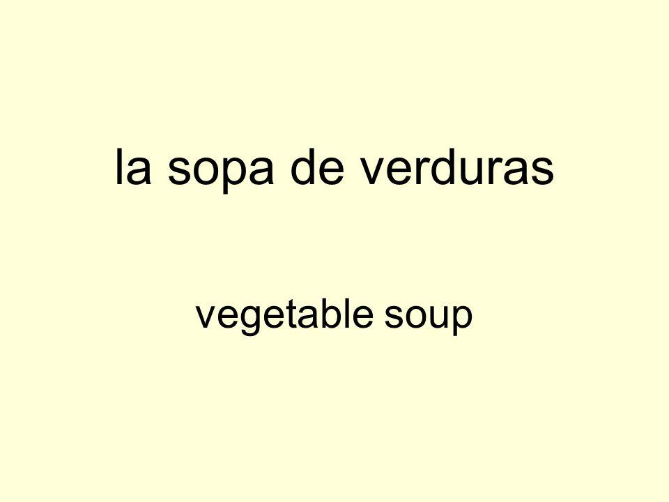 la sopa de verduras vegetable soup
