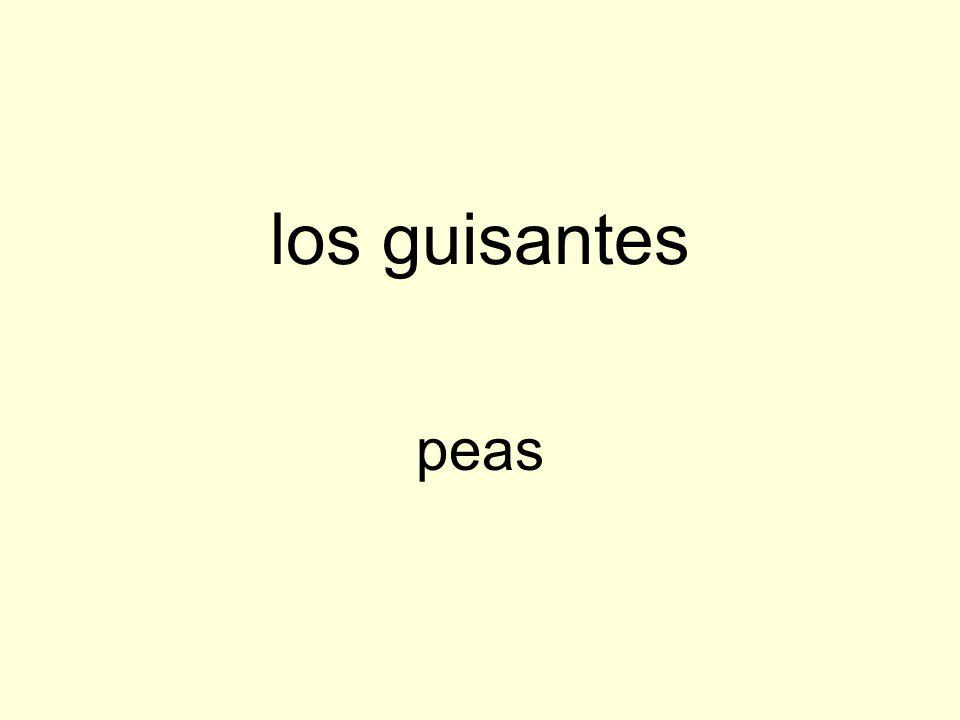 los guisantes peas