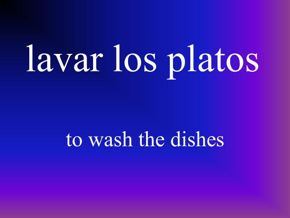 pener la mesa to set the table
