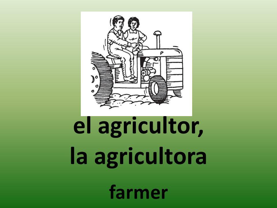 el agricultor, la agricultora farmer