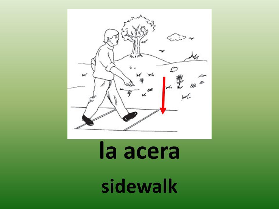 la acera sidewalk