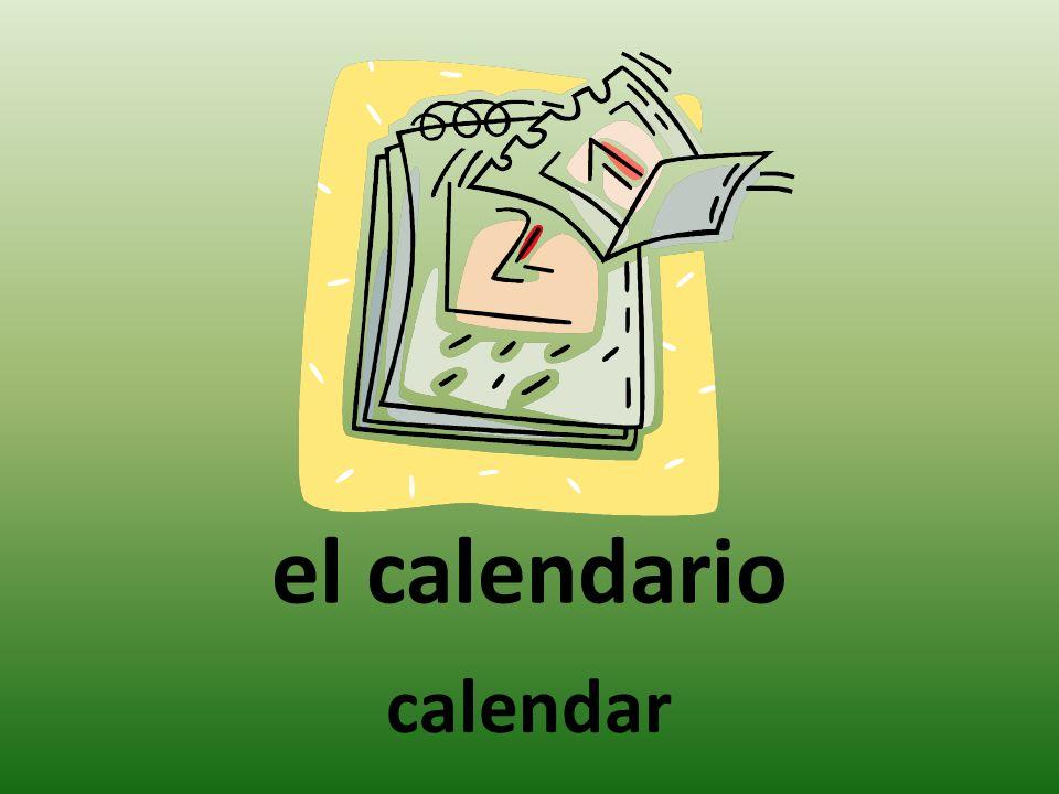 el calendario calendar