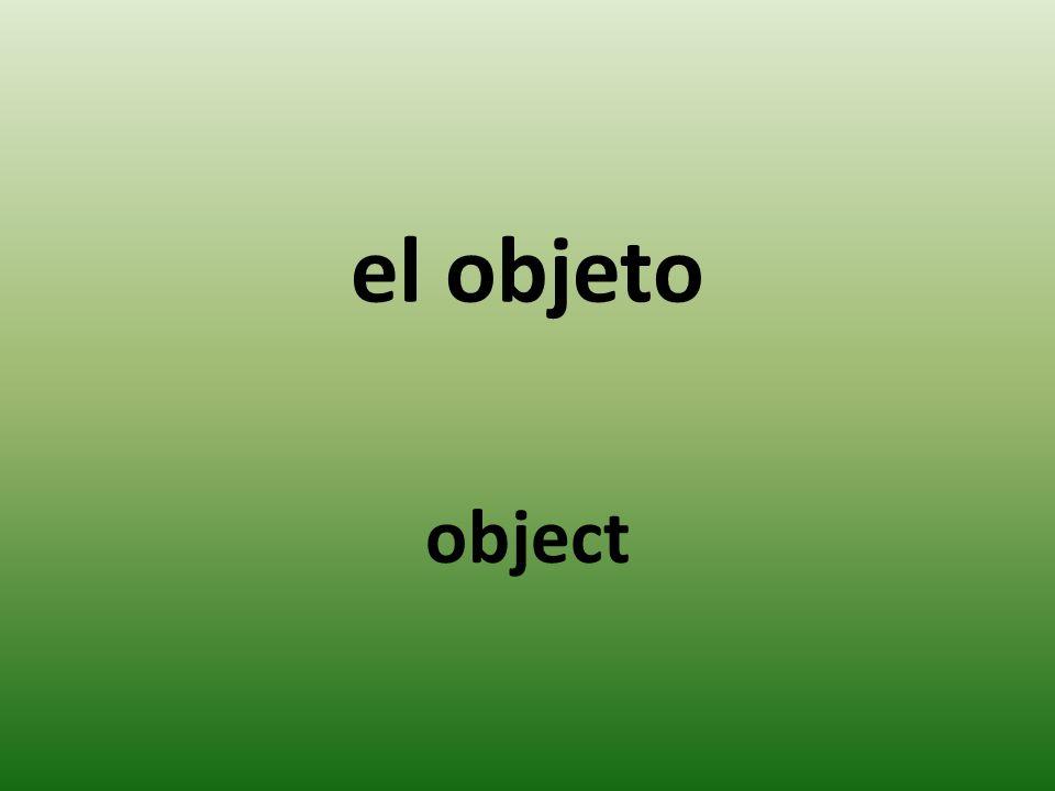 el objeto object
