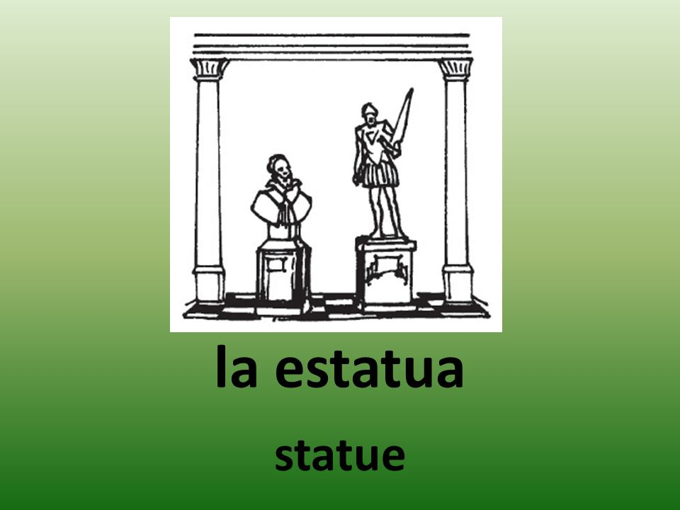 la estatua statue