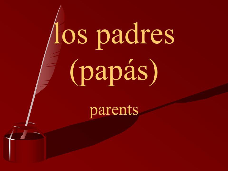 los padres (papás) parents