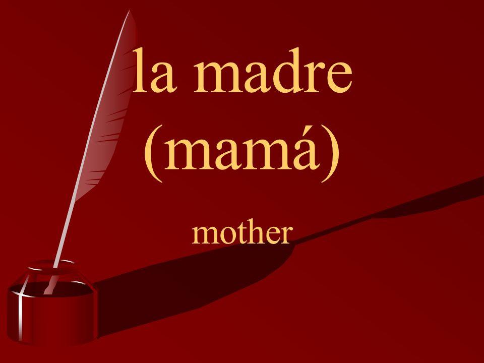 la madre (mamá) mother