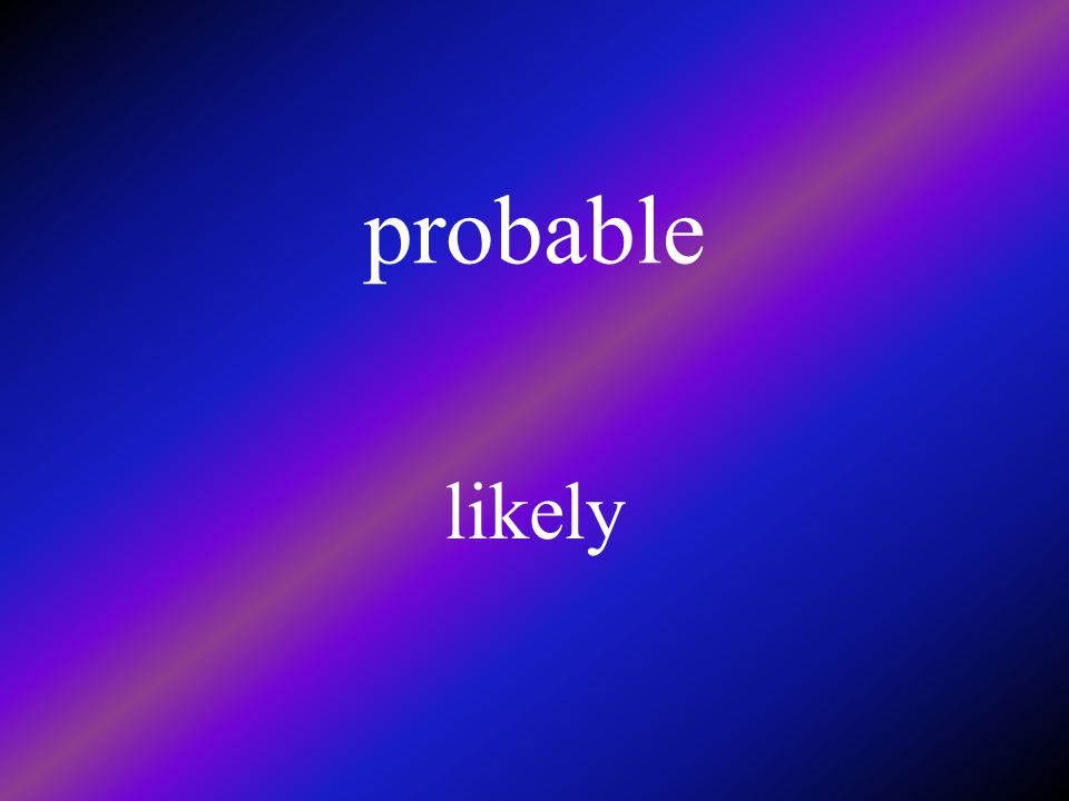 probable likely