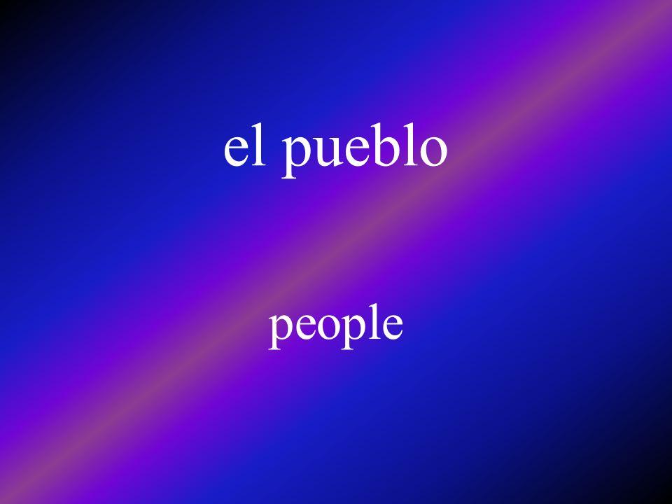 el pueblo people