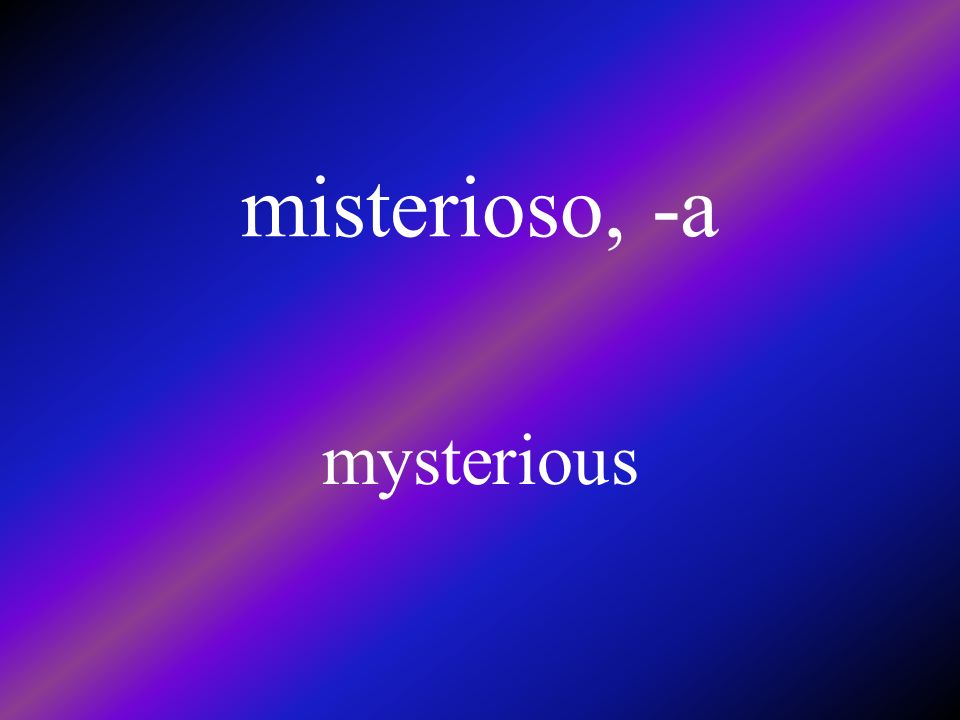 el misterio mystery