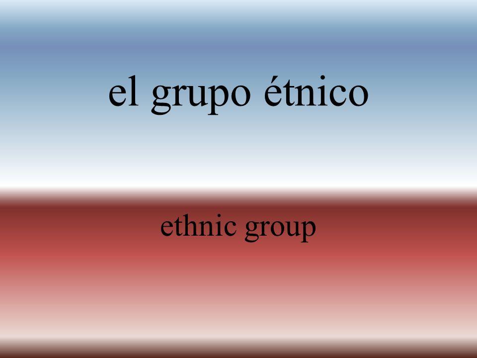 el grupo étnico ethnic group