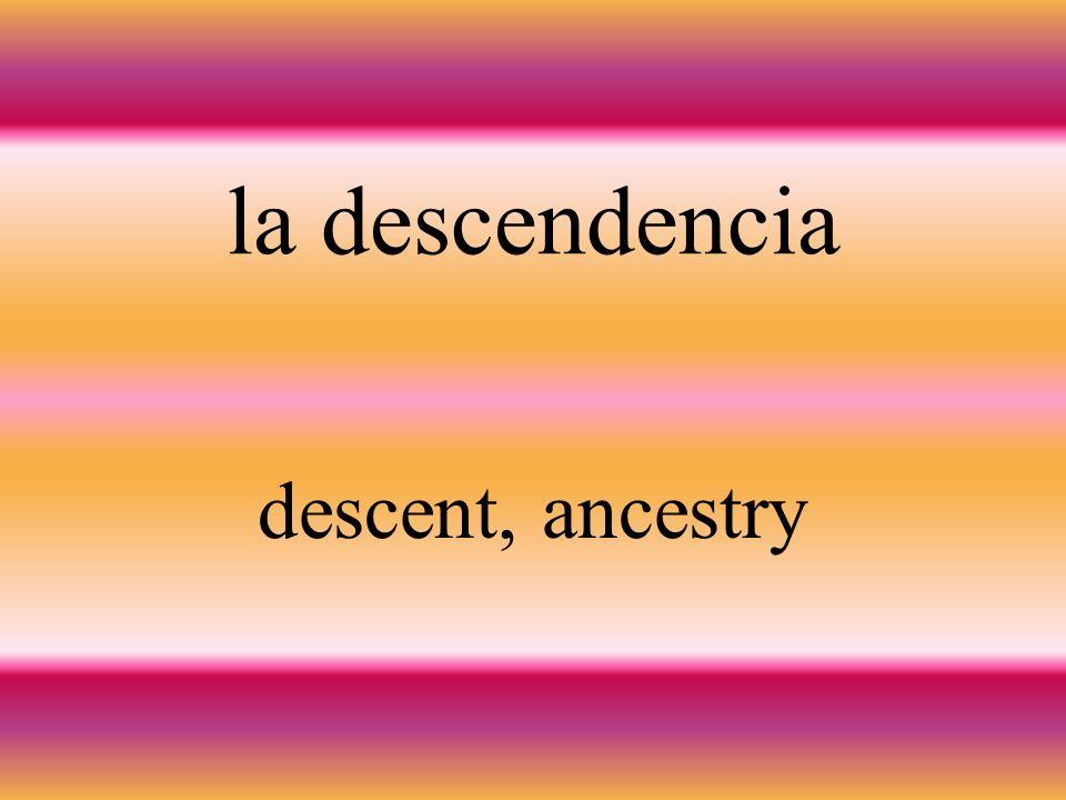 el antepasado ancestor