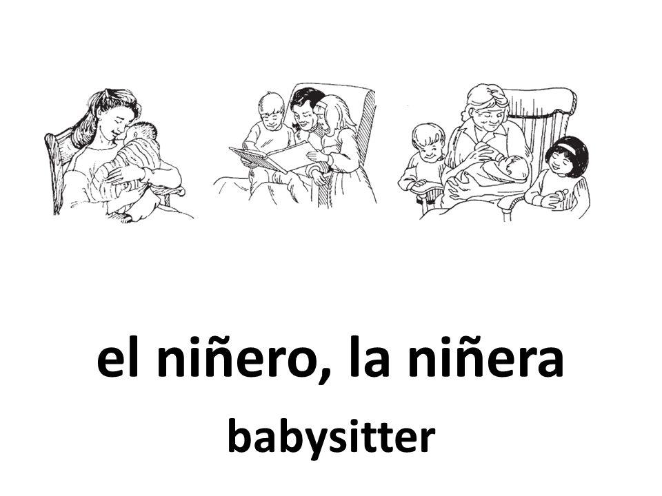 el niñero, la niñera babysitter