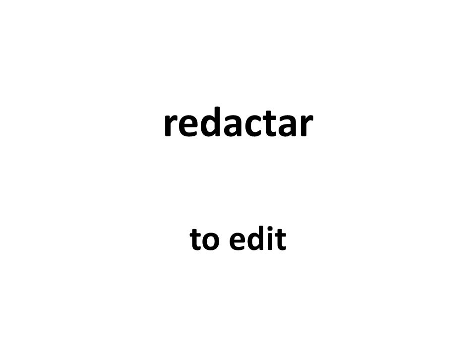 redactar to edit