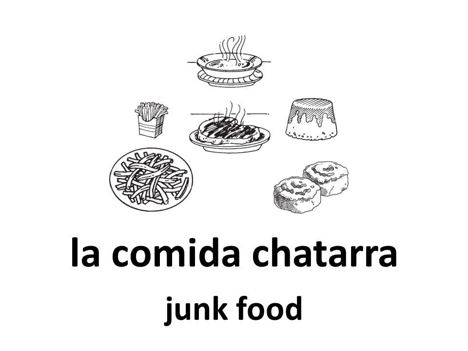 la comida chatarra junk food