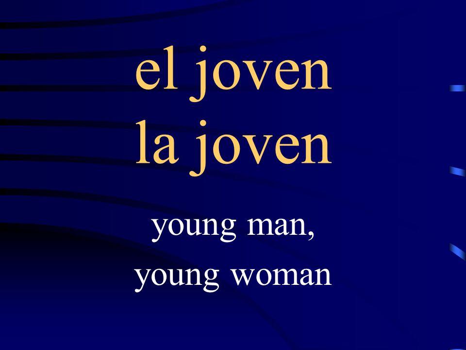 el joven la joven young man, young woman